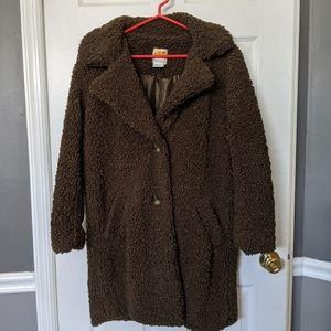 NEW long teddy coat